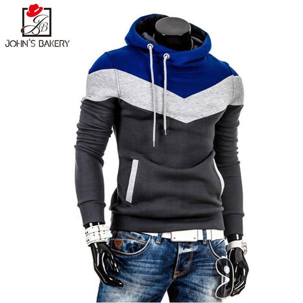2017 Brand Hoodies Men  Male Long Sleeve Hoodie Whiskey Stitching Color Sweatshirt Mens Moletom Masculino Hoodies Slim Tracksuit
