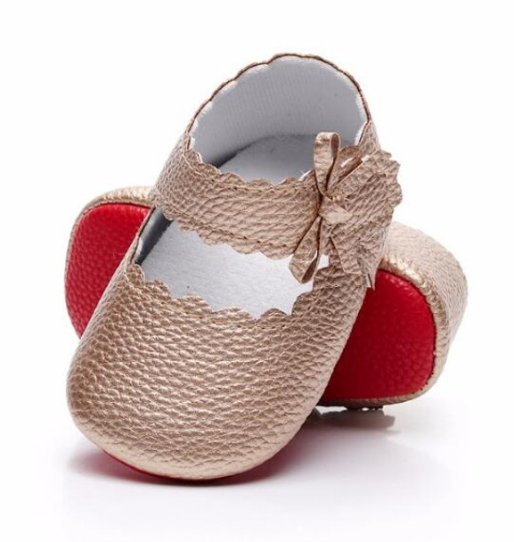 0afe8c349c18 HONGTEYA New style Baby Girls soft Red sole Ballet Dress Shoes PU leather Mary  Jane Sidebow ...
