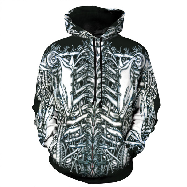 2017 Fashion Brand 3D Hoodies for men 3d Hooded Sweatshirts Skull print Two Parts Printed hooded Tracksuits Hoome Tops Unisex