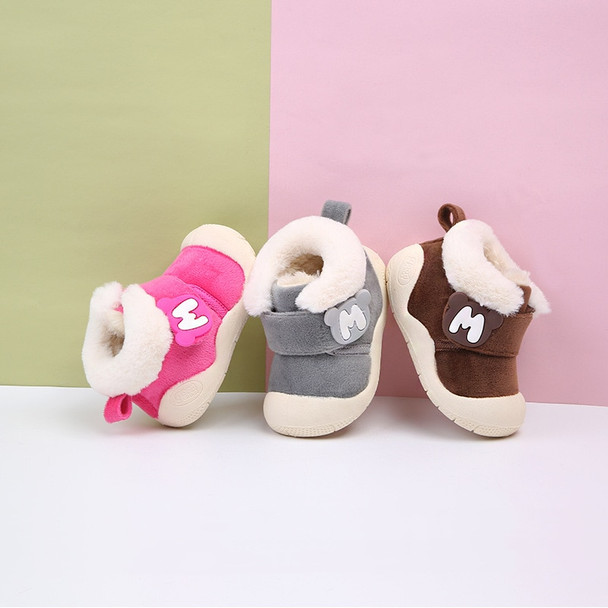 2018 Winter Baby Girl Boy Snow Boots Thicken Plush Infant Newborn Toddler Boots Soft Bottom Non-slip Kids Children Boots Shoes