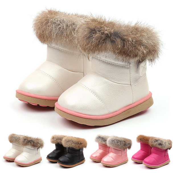 Newborn Baby Girl Shoes Infant Boys Kids Child Leather Winter Bootie Warm Snow Shoes Boots Footwear Moccasins Baby Shoes