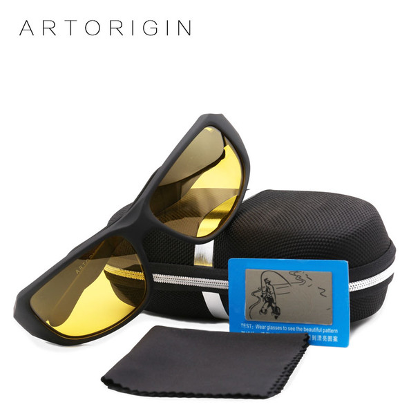 ARTORIGIN Polarized Sunglasses Men Women Night Vision Goggles Driving Glasses Anti Glare Safety Sunglass With Box AT003