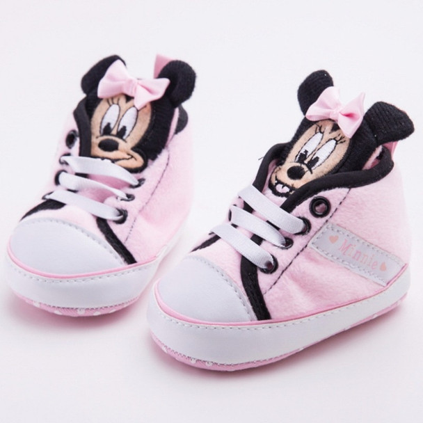 New Brand Girl Baby Shoes First Walkers Cute Minnie Newborn Princess Children's Sneakers Soft-Soled Baby Girl Shoes