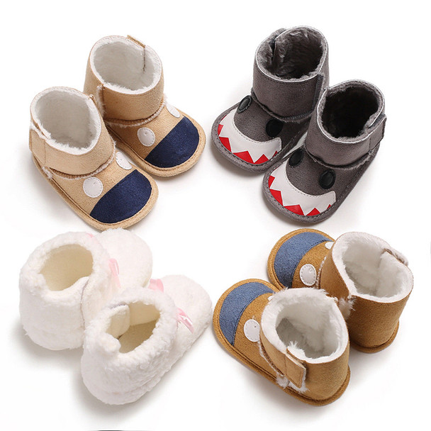 Winter Newborn Baby Boys Girls Booties Slippers Infant Soft Anti Slip Snow Boots Shoes 0-18M