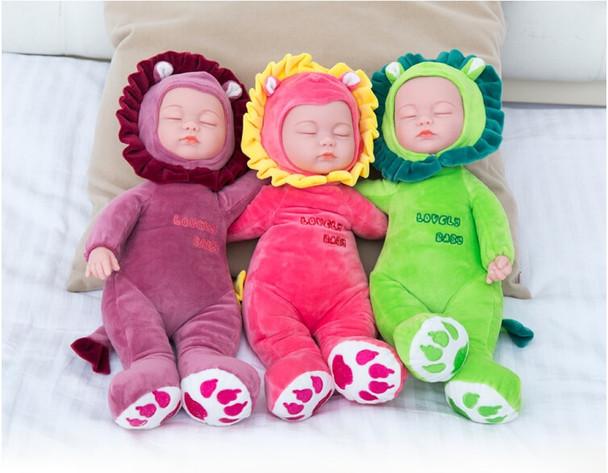 35CM Plush Stuffed Toys Baby Dolls Reborn Doll Toy For Kids Accompany Sleep Cute Vinyl Plush doll Girl Lifelike Kids Toys Gift