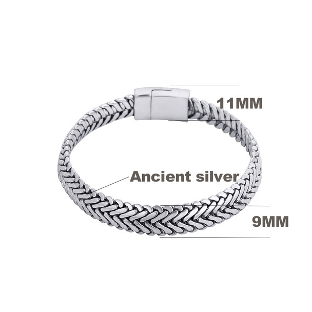 Ancient Silver Fashion Punk Buddha Bracelet for Women DIY Bracelets & Bangles Charms Bracelets Men Pulseira Jewelry Gifts