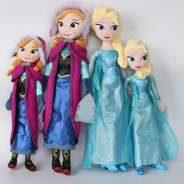 40cm 50cm Plush Doll Toy Cartoon Cute Princess Anna And ELsa Olaf Stuffed Plush Toy Girls Kids Christmas Gift