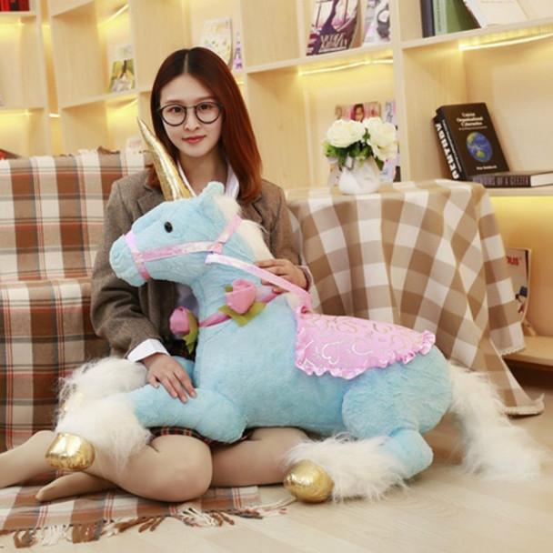 100cm Jumbo Unicorn Horse Plush Toys Giant Stuffed Animal Soft Doll Home Decor Gift for Children Photo Props