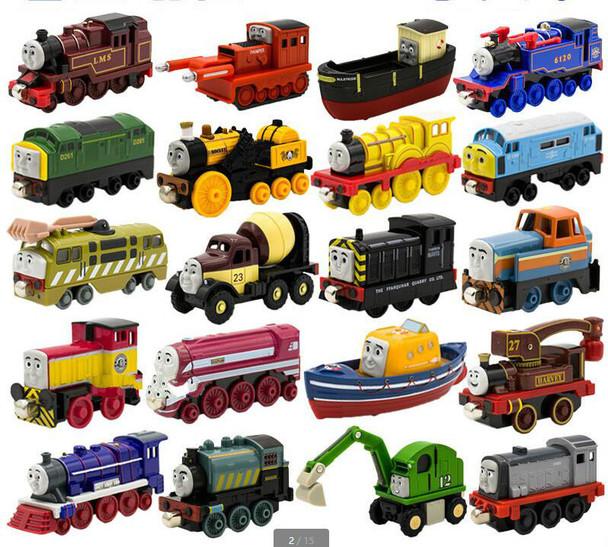 Locomotive Diecast Metal Train Toys Educational Model DIY Mini Toy Magnetic Models Stephen MAC Hank For Kids Children Gifts