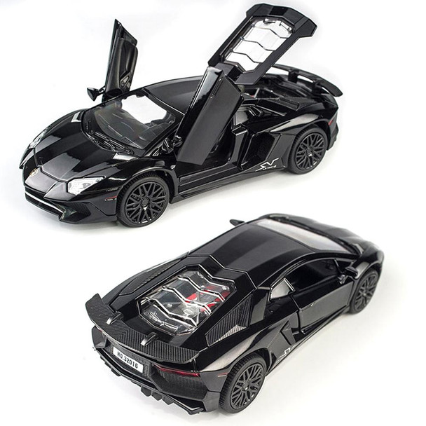 1:32 Alloy Cars Models Aventador LP750 Diecast Model Vehicles Car Sound Light Pull Back Car Toy Miniature Scale Model Cars Toys