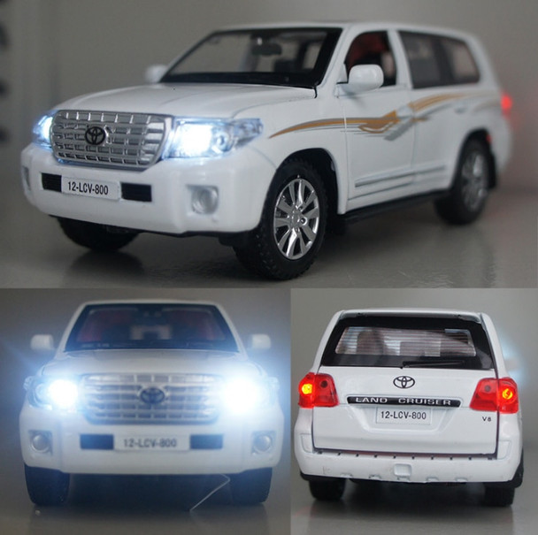 High Simulation 1:32 Toyota LAND CRUISER Vehicles Alloy Diecast Car Model Toys With Pull Back Sound Light For Children Kids Toys
