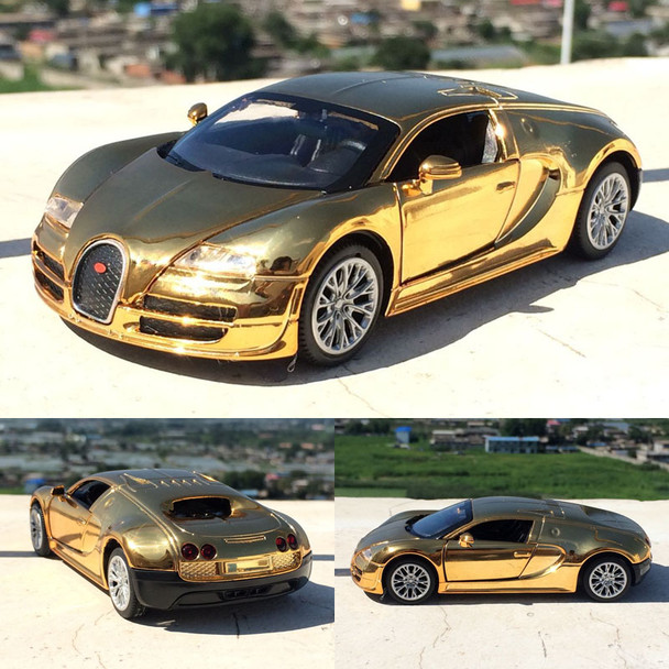 1:32 Bugatti Veyron High Simulation Alloy Car Model With Pull Back Diecast Car Children Toys Car Collection
