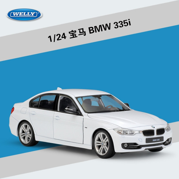 WELLY 1:24 High Simulation Classical Diecast Vehicle BMW335i/535i Metal Alloy Car Model For Boy Children Gift Toy Car Collection