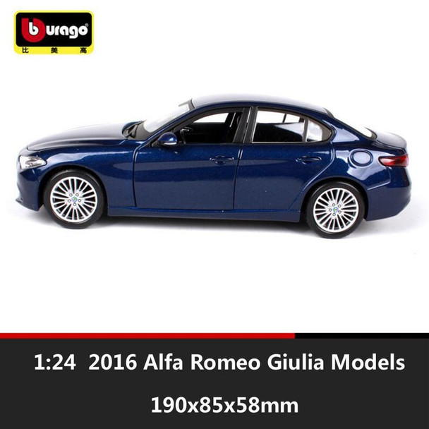 1:24 Scale kid's miniature 2016 Alfa Romeo Gi Giulia metal diecast auto free wheels cars model collection gift toys for children