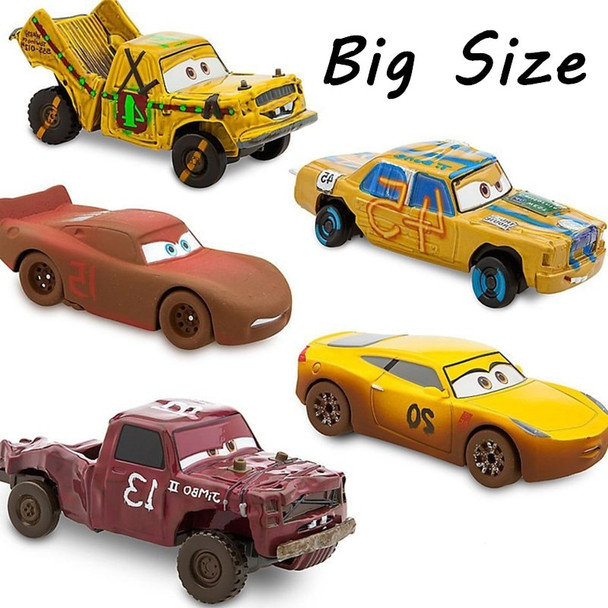 Disney Pixar Cars 3 Crazy Crashed Party Big Size Alloy Car Toys Lightning McQueen Mater T.Bone Toy Car Gifts For Childrens