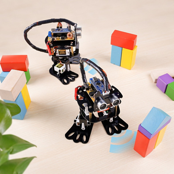 SunFounder DIY 4-DOF Robot Kit- Sloth Learning Kit Programmable Dancing Robot Kit For Arduino Nano Electronic Toy