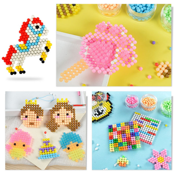 1 set Magic Beads DIY Puzzles for children colorful Water mist perler beads 3d puzzle 1000 pieces pieducational montessori toy