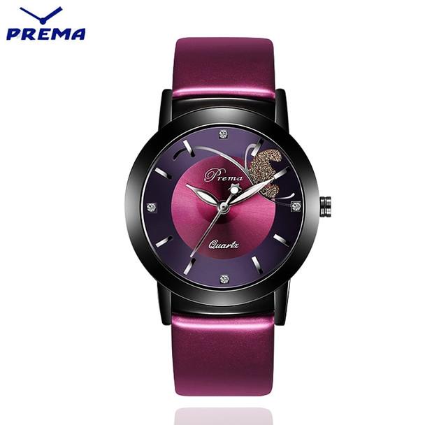 New Fashion PREMA Brand Rose Gold Leather Watches Women ladies casual dress quartz wrist watch Clock reloj mujer