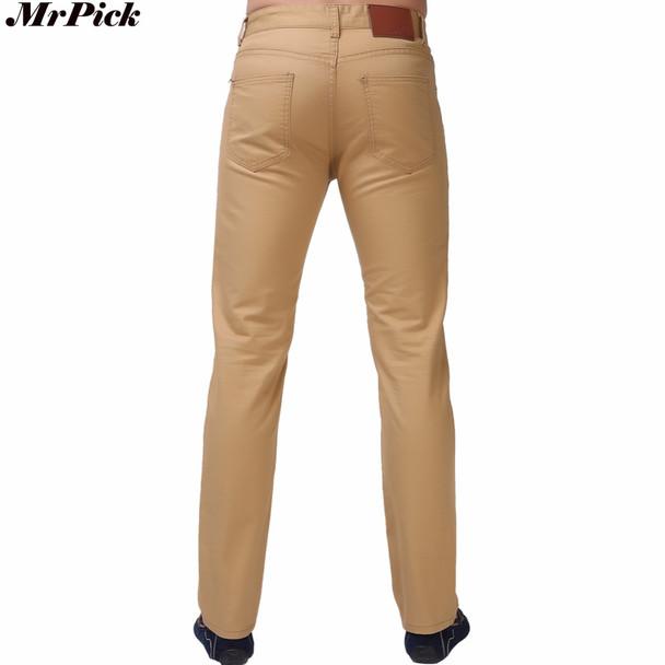 Men Jeans Straight Casual Jeans Fashion Design Men Pants White Blue Red L9761