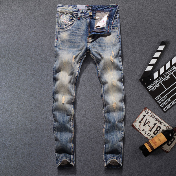 2017 New Fashion Dsel Designer jeans men Famous Brand Ripped jeans Denim Cotton Jeans Men Casual Pants printed jeans ,708-B