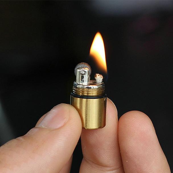 Mini Compact Kerosene Lighter Capsule Gasoline Lighter Inflated Key Chain Petrol Lighter Grinding Wheel Lighter Outdoor Tools