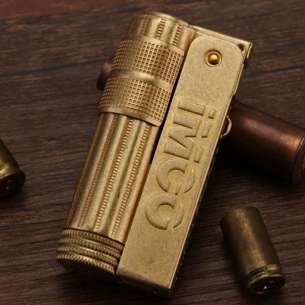 Copper lighter gasoline Kerosene cigarette lighter Oil Petrol Refillable lighter Windproof Vintage retro style IMCO 6700