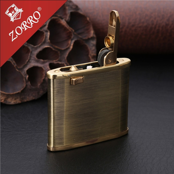 Zorro Vintage Copper Gasoline Lighter Oil Petrol Refillable Use  Flint Petrol Gasoline  Kerosene Fire Lighter