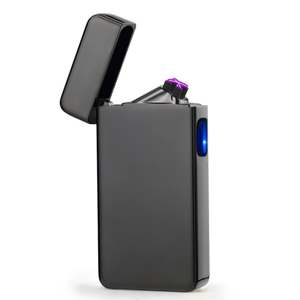 New Electric Double Pulse Arc Lighter USB Lighter Smokeless Windproof Cigarette Cigar lighters Plasma Rechargeable