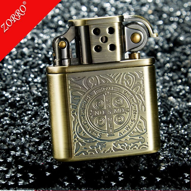 Constantine ZORRO Copper Cigarette Lighter Gasoline Vintage Kerosene For Gas Lighter Grinding Wheels Fire Lighter
