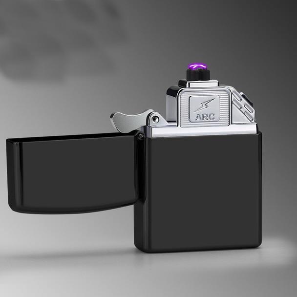 2018 New USB Lighter Electric Pulse Double Arc Cigarette Lighter Windproof Thunder Metal Cigarette Plasma Flameless Cigar