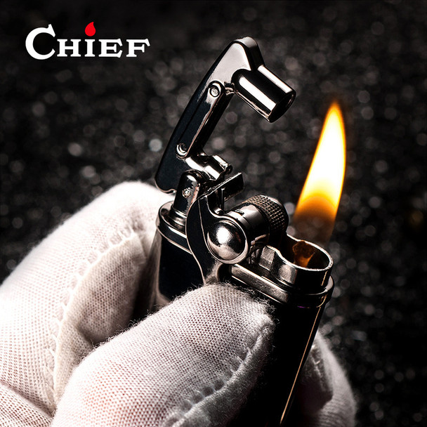 Luxury Creative Stainless Steel Kerosene Lighter Original Oil Gasoline Cigarette Lighter Cigar Pipe Petrol Vintage Lighter Gifts
