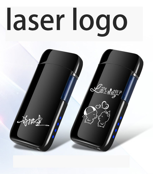 Plasma Lighter Free Laser Logo Flip up USB Lighter Cigarette Lighter Double Arc Electronic Lighter For Smoking