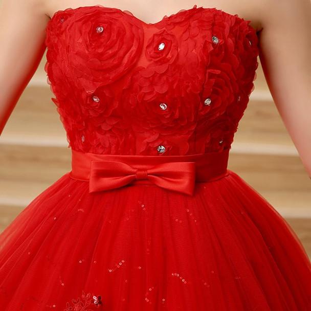 beautiful Vintage Lace Red Ball Gown Wedding Dresses 2018 New Detachable Long train Lace Appliques Bridal Gow estido De Noiva