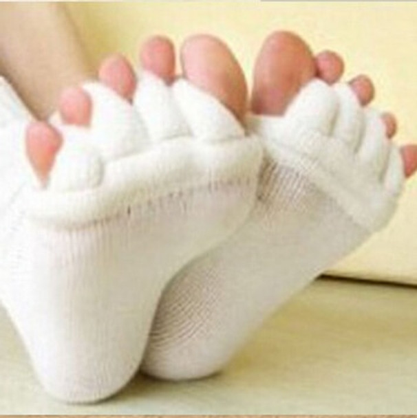 1Pair Foot Massager Toe Socks Finger Separator Massage Sleeping Health Foot Care Relaxing Compression Sock Foot Feet Pain Relief