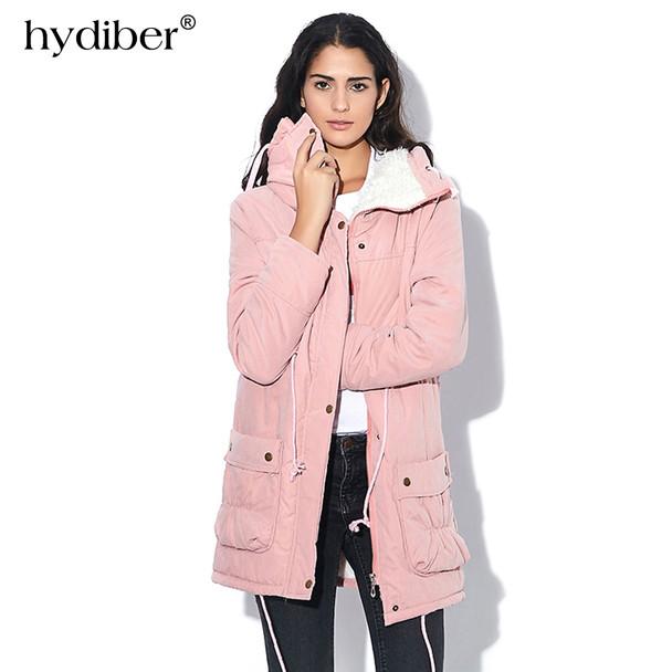 c62d9858cd50 New 2019 Winter Coat Women Slim Plus Size Outwear Medium-Long Wadded ...