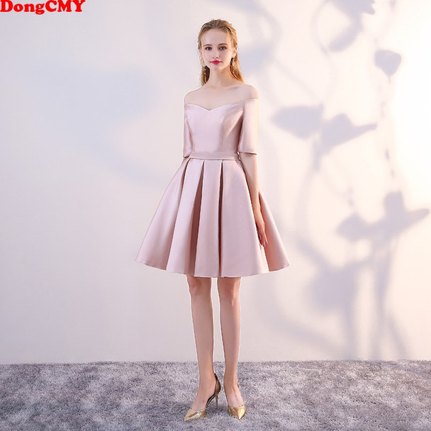 DongCMY WT10688 new 2018 short plus size married sexy girl's Party vestidos Cocktail Dress