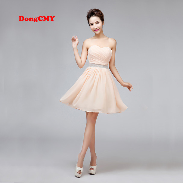 DongCMY 2017 new arrival mini sexy sweetheart elegant party Cocktail dress beige color women elegant backless gown