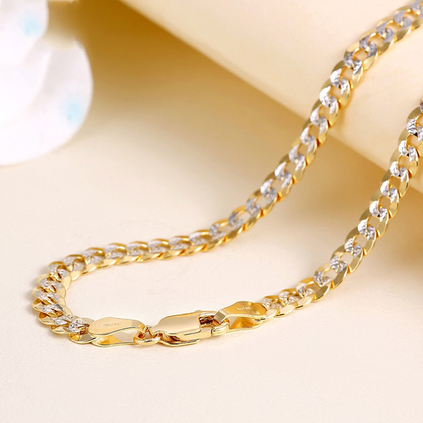 18K Pure Gold Necklace Real AU 750 Solid Gold Chain Men's Simple Upscale Trendy Classic Party Fine Jewelry Hot Sell New 2018