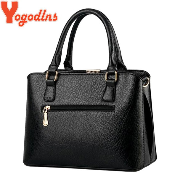 Yogodlns 2019 new ladies pu leather messenger bags Women luxury handbags new stylish female shoulder bags sac a main bolsos