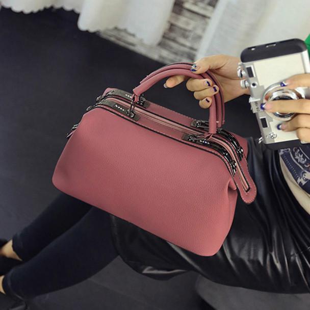 DAUNAVIA 2018 Brand Fashion Boston handbags for women famous designer leather messenger bags ladies party shoulder Crossbody bag