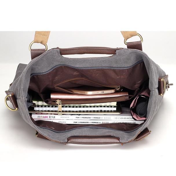 647e4bff1986 KVKY Vintage Canvas Women Handbags High Quality Ladies Shoulder Bag  Patchwork Women Lady Bag Casual Tote Crossbody Bolsa