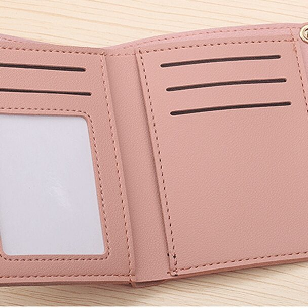 c2255d1ecd4c DANHEN Brand Lady Short Women Wallets Mini Money Purses Small Fold PU  Leather Female Coin Purse Card Holder