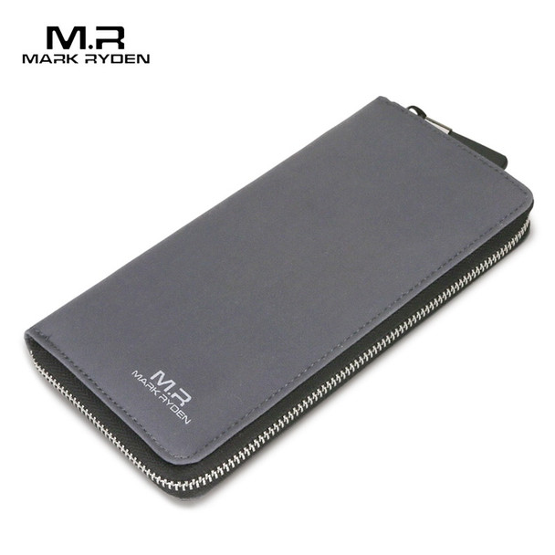 MARK RYDEN Long Wallets for Teenagers Water Repellent Zipper Wallet Card Holder Casual Style Purse