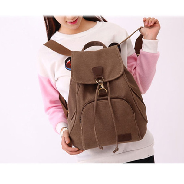 59a3358fcd54 Woman canvas backpacks female vintage bag fashion backpacks for teenage  girls retro College student school bags fabric knapsack