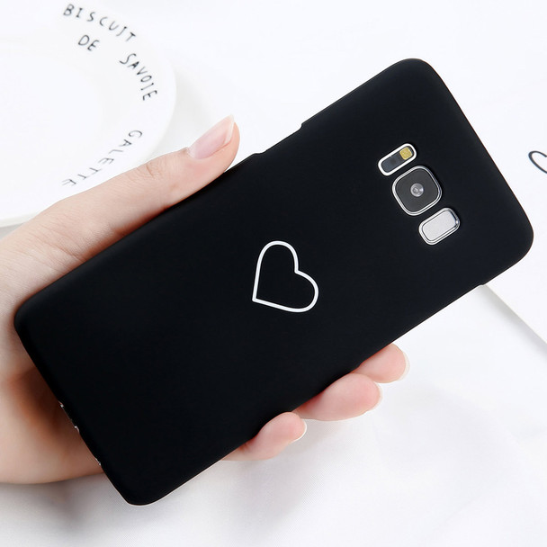 USLION Phone Case For Samsung Galaxy S8 Plus S7 Edge Cartoon Love Heart Cases Slim Hard PC Cover Fundas For Galaxy Note 8 S8 S7