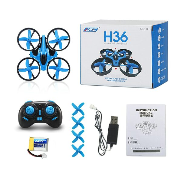 JJRC H36 Mini Quadcopter 2.4Ghz 4CH RC Mini Drone Headless Mode Remote Control RC Helicopter One Key Return Kids Toy Gift VS H8