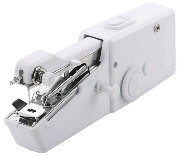 Mini Portable Handheld Sewing Machines Handy Stitch Clothes Fabrics Sew Needlework Cordless Electric Sewing Machine