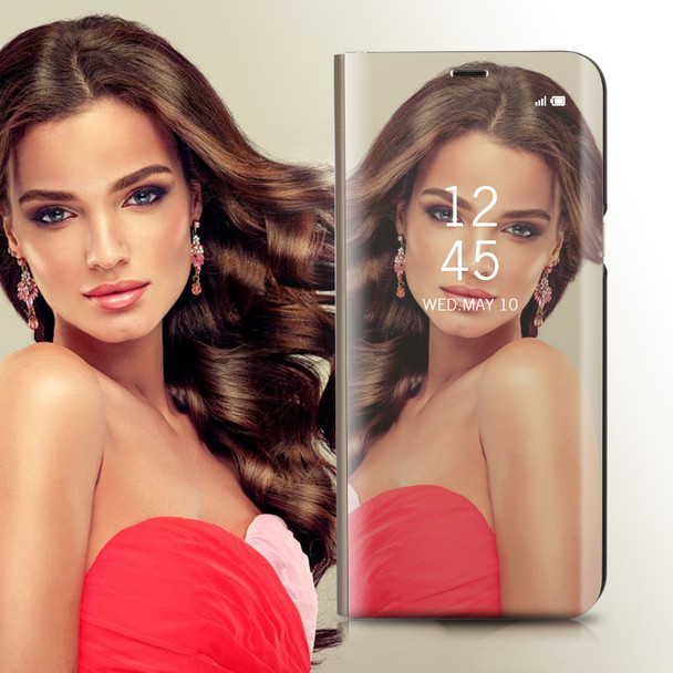 Luxury Mirror Flip Case For Samsung Galaxy S9 S 9 Ultra thin Leather Clear View Smart Cover For Samsung Galaxy S9 Plus s9+ Cases