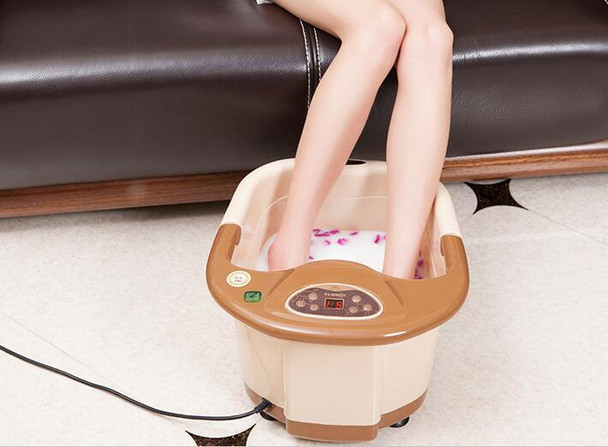 Automatic Electric Foot Spa Device Footbath Machine Constant Temp Foot Massage Heating Roller Massager Safe Bucket Basin
