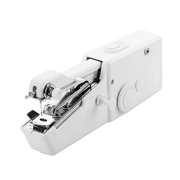 Portable Mini Manual Sewing Machine Clothes Fabric Handy Stitch Handheld Sewing Tool Needlework Cordless